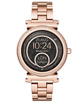 9bbdd737d3d2 Michael Kors Access Women s Sofie Rose Gold-Tone Stainless Steel Bracelet  Touchscreen Smart Watch 42mm