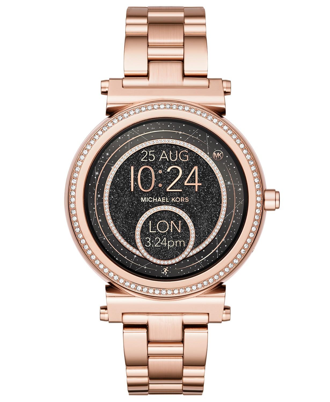 Michael Kors Access Women's Sofie Rose Gold-Tone Stainless Steel Bracelet Touchscreen Smart Watch 42mm