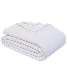 Berkshire VelvetLoft Textured Grid Plush King Blanket