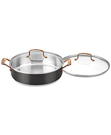 Onyx Black & Rose Gold 5-Qt. Casserole & Cover, Created for Macy's