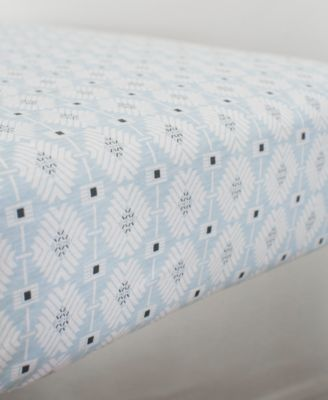 Southwest Skies  100% Cotton Geo-Print Jersey-Knit Fitted Crib Sheet