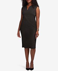 ECI Plus Size Shimmer Jacquard Sheath Dress