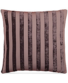 "LAST ACT! Hallmart Collectibles Purple Stripe Jacquard 18"" Square Decorative Pillow"