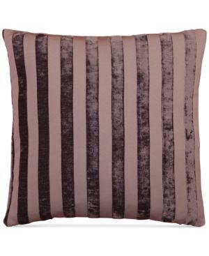 "Last Act! Hallmart Collectibles Purple Stripe Jacquard 18"" Square Decorative Pillow 4958517"