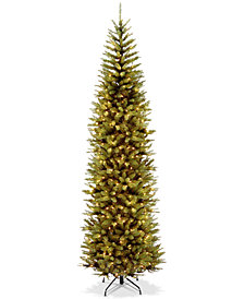 National Tree Company 9' Kingswood Fir Pencil Tree With 500 Clear Lights
