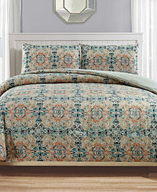 Pavo Reversible 3-Pc. Full/Queen Comforter Set