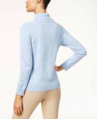 Karen Scott Cotton Turtleneck Sweater Created For Macys Sweaters