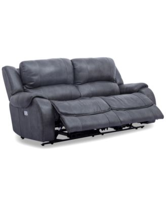 Rinworth 2-Pc. Leather Sectional with 2 Power Recliners, Articulating Headrests and USB Power Outlet