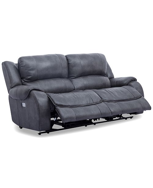 Furniture Rinworth 2-Pc. Leather Sectional with 2 Power Recliners, Articulating Headrests and USB Power Outlet