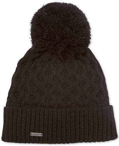Calvin Klein Honeycomb Cable-Knit Beanie
