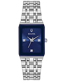 Women's Futuro Diamond-Accent Stainless Steel Bracelet Watch 21x32mm, Created for Macy's