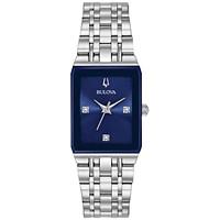 Bulova Women's 21x32 mm Futuro Diamond-Accent Stainless Steel Bracelet Watch