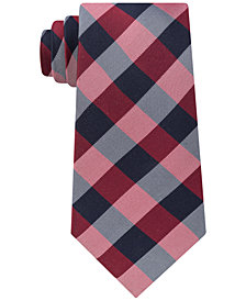 Tommy Hilfiger Men's TH Flex Gingham Silk Tie