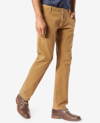 Men's Alpha Smart 360 FLEX Slim Tapered Fit Khaki Stretch Pants