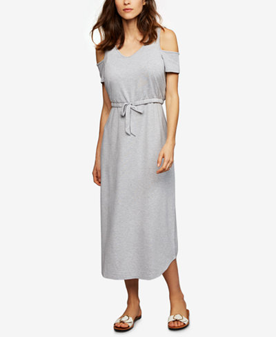 A Pea In The Pod Maternity Cold-Shoulder Nursing Dress