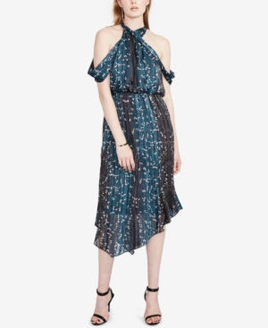 Rachel Rachel Roy  PRINTED COLD-SHOULDER MIDI DRESS