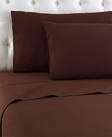 Micro Flannel Solid Queen 4-pc Sheet Set