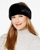 INC International Concepts Reversible Velvet & Faux-Fur Headband, Created for Macy's