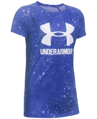 Image of Under Armour Heathered Novelty Big Logo T-Shirt, Big Girls (7-16)