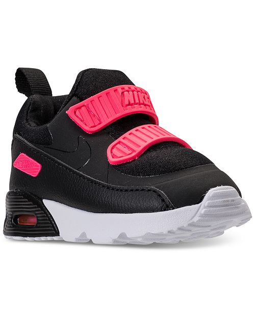 ... Nike Toddler Girls  Air Max Tiny 90 Running Sneakers from Finish ... c9b0fa41b3b1