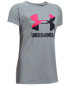 Under Armour Solid Big Logo T-Shirt, Big Girls (7-16)