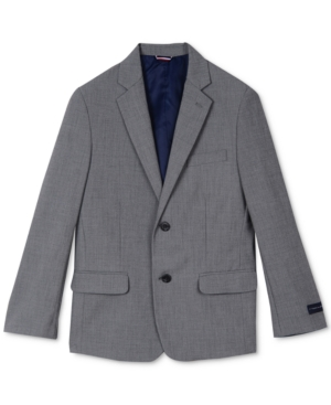 Tommy Hilfiger Sharkskin Suit Jacket Big Boys (820)