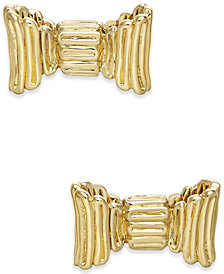 kate spade new york Gold-Tone Bow Stud Earrings