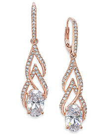Danori Silver-Tone Crystal & Pavé Drop Earrings, Created for Macy's
