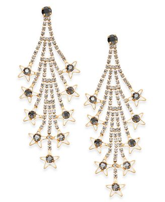 I.N.C. Gold-Tone Crystal Cascade Drop Earrings, Created for Macy's