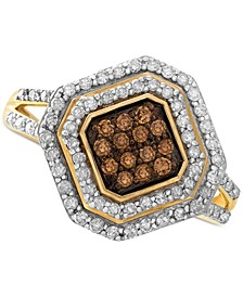 White and Brown Diamond Ring in 14k Gold (1/2 ct. t.w.), Created for Macy's