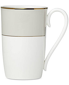 Lenox Pleated Colors Gray Mug