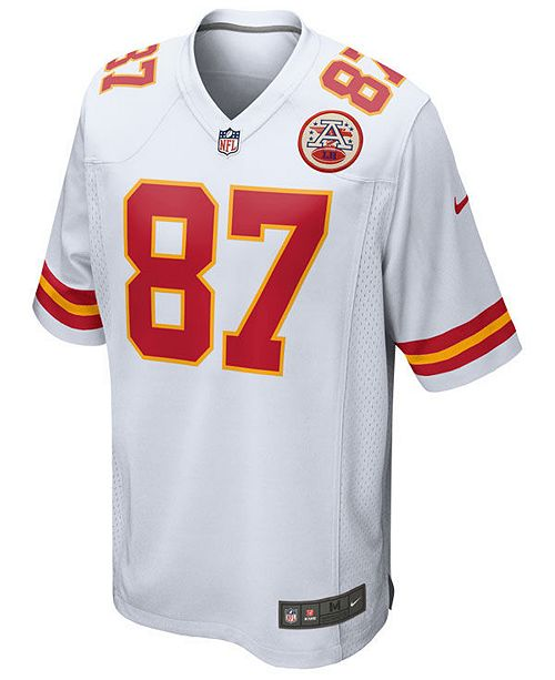 newest collection 37096 8c66b Nike Men's Travis Kelce Kansas City Chiefs Game Jersey ...