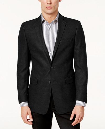 Calvin Klein Men's Slim-Fit Textured Sport Coat - Blazers & Sport ...