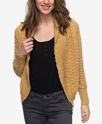 Roxy Chunky-Knit Cardigan - Juniors Sweaters - Macy's