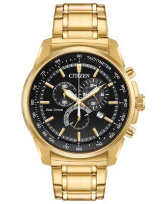 citizen ecodrive menu0027s goldtone stainless steel bracelet watch 44mm a macyu0027s