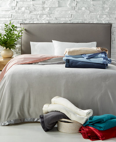 Martha Stewart Collection Soft Fleece Blankets, Created for Macy's