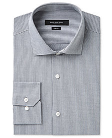 Marc New York Men's Slim-Fit Motion-Ease Collar Wrinkle-Free Stripe Dress Shirt