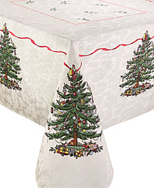 "Spode Christmas Tree Tablecloth, Created for Macy's, 60"" x 102"""