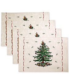 Christmas Tree Set of 4 Placemats, Created for Macy's