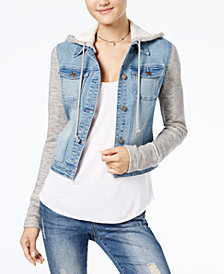 American Rag Juniors' Terry Denim Jacket, Created for Macy's