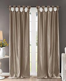 "Emilia 50"" x 108"" Lined Faux-Silk Twisted Tab Window Panel"