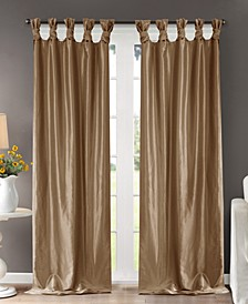 Emilia Faux-Silk Twisted Tab Top Curtain Collection