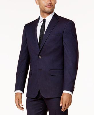 Sean John Men's Slim-Fit Purple Birdseye Suit Jacket - Men - Macy's
