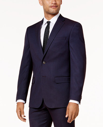 Sean John Men's Slim-Fit Purple Birdseye Suit Jacket - Men - Macy's