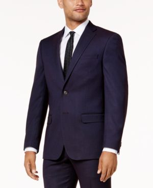 Sean John Men's Slim-Fit Purple Birdseye Suit Jacket thumbnail