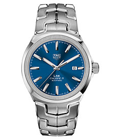 TAG Heuer Men's Swiss Automatic LINK Stainless Steel Bracelet Watch 41mm