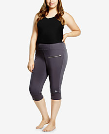 Soffe Curves Plus Size Cropped Leggings