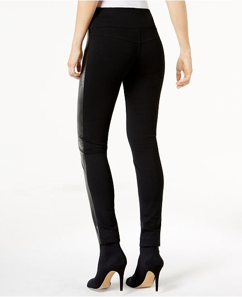 0a739450b7491c ... INC International Concepts I.N.C. Faux-Leather-Front Skinny Pants,  Created for Macy's ...
