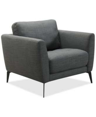 """CLOSEOUT! Nilah 38"""" Fabric Armchair, Created For Macy's"""