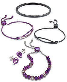 Michael Kors Black & Purple-Tone Jewelry Separates, Created for Macy's